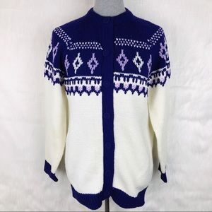 Vintage Classic Casuals Acrylic Cardigan Sweater